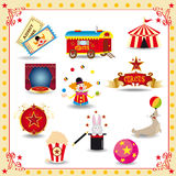 Funy circus icons vector illustration