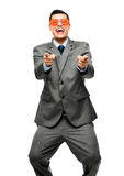 Funy crazy man face businessman Royalty Free Stock Photography