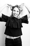 Funy girl. Royalty Free Stock Photos