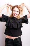 Funy girl Stock Photo