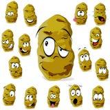 Funy Kartoffelkarikatur Lizenzfreie Stockbilder