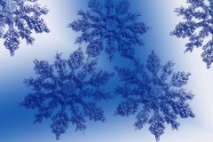 Funy snowflakes Royalty Free Stock Photo