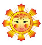 Funy Sun Stock Image