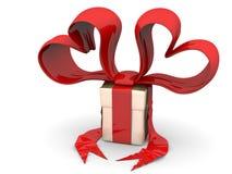 Funy valentine gift box Stock Image