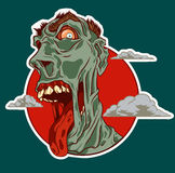 Funy zombie sticker vector concept Stock Photography