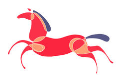 Funzionamenti colorati del cavallo Immagini Stock Libere da Diritti