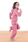 Funzionamento allegro della bambina Fotografie Stock Libere da Diritti