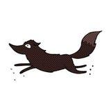funzionamento comico del lupo del fumetto Fotografia Stock