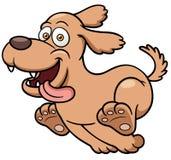 Funzionamento del cane del fumetto Fotografia Stock