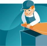 Funzionamento del carpentiere Immagini Stock