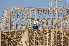 Funzionamento del carpentiere Fotografia Stock Libera da Diritti