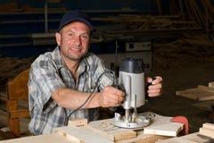 Funzionamento del carpentiere Fotografie Stock