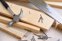 Funzionamento del carpentiere Fotografia Stock