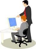 Funzionamento del cliente e del progettista illustrazione vettoriale