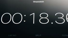 Funzionamento del cronometro sulla compressa video d archivio