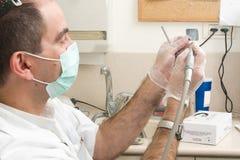 Funzionamento del dentista Immagini Stock