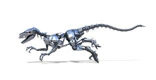 Funzionamento del dinosauro del robot Fotografie Stock Libere da Diritti
