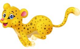 Funzionamento del fumetto del ghepardo Immagine Stock