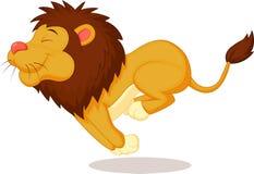 Funzionamento del fumetto del leone Fotografie Stock Libere da Diritti