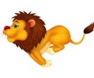Funzionamento del fumetto del leone Fotografia Stock