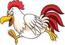 Funzionamento del gallo del fumetto illustrazione di stock