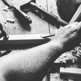 Funzionamento del legno Immagini Stock