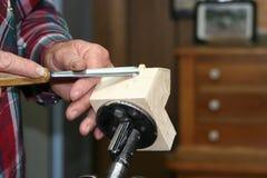 Funzionamento del legno del Carver immagini stock libere da diritti