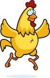 Funzionamento del pollo Fotografie Stock Libere da Diritti