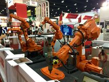 Funzionamento del robot Fotografie Stock