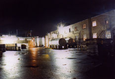 Funzionamento del turno di notte Fotografia Stock Libera da Diritti