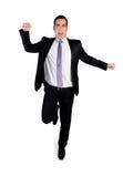 Funzionamento del vincitore dell'uomo di affari Immagine Stock