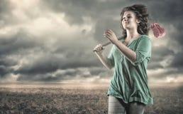 Funzionamento dell'adolescente Fotografie Stock Libere da Diritti