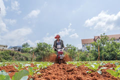 Funzionamento dell'agricoltore Fotografie Stock Libere da Diritti