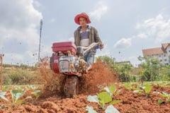 Funzionamento dell'agricoltore Fotografia Stock Libera da Diritti