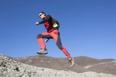 Funzionamento dell'alpinista Immagine Stock