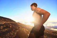 Funzionamento dell'atleta del corridore fotografie stock libere da diritti