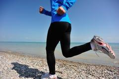 Funzionamento dell'atleta del corridore Fotografia Stock Libera da Diritti