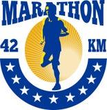 Funzionamento dell'atleta del corridore di maratona Fotografie Stock