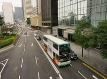 Funzionamento dell'autobus a due piani in Hong Kong Fotografie Stock