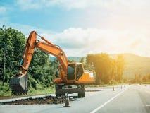 Funzionamento dell'escavatore Fotografie Stock