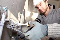 Funzionamento dell'idraulico Immagine Stock Libera da Diritti
