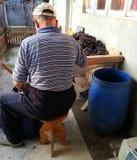 Funzionamento dell'uomo anziano Immagini Stock