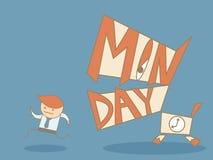 Funzionamento dell'uomo di affari a partire da lunedì Immagini Stock Libere da Diritti