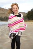 Funzionamento della bambina Fotografie Stock