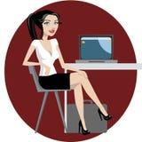Funzionamento della donna di affari illustrazione vettoriale