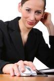 Funzionamento della donna di affari   Fotografia Stock Libera da Diritti
