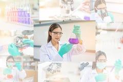 Funzionamento della donna o del chimico di medico Fotografia Stock Libera da Diritti