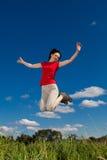 Funzionamento della donna, saltante fotografia stock libera da diritti