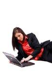 Funzionamento della giovane donna. Fotografia Stock Libera da Diritti