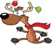 Funzionamento della renna del fumetto Fotografia Stock